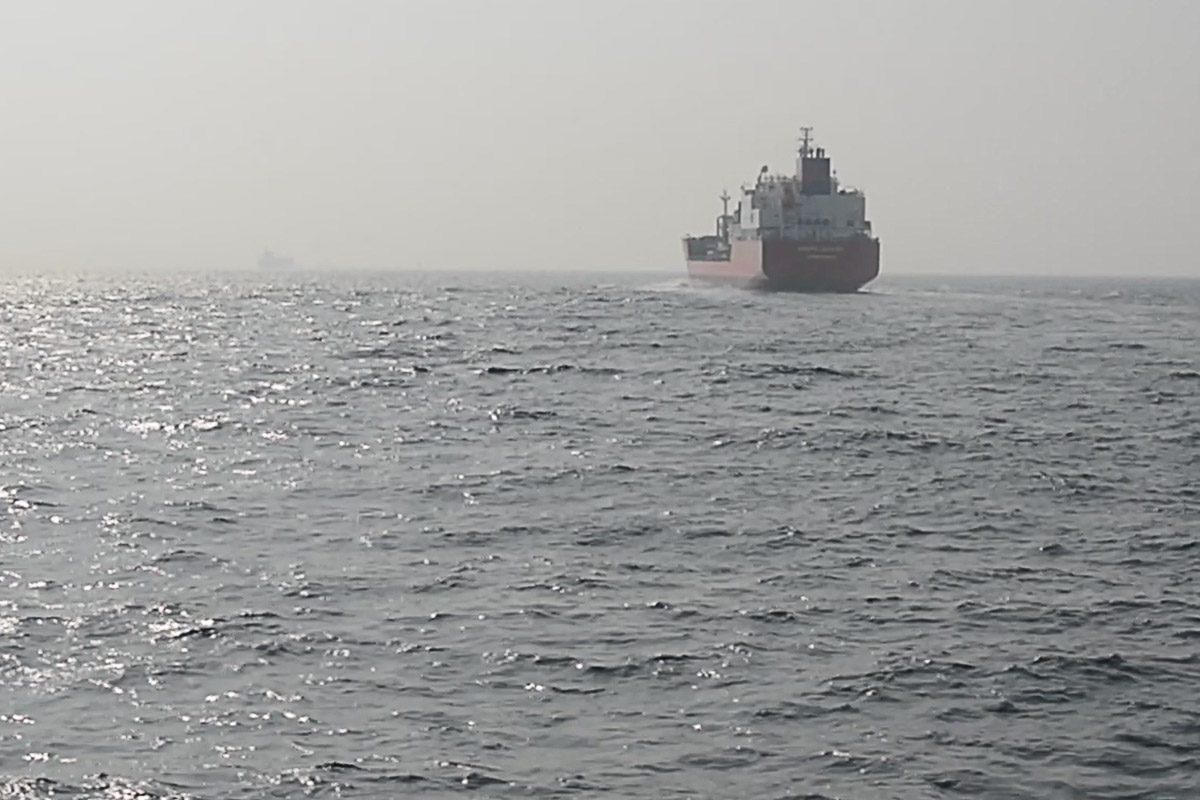 Frachtschiffe in der Straße von Gibraltar - gefährlich für Wale und Delfine