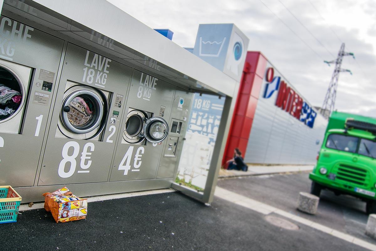 Waschmaschinen auf öffentlichen Plätzen