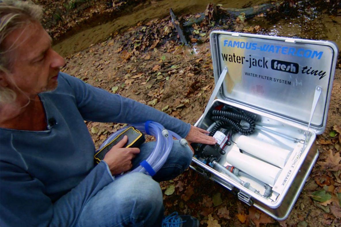 Mobile Trinkwasser Filteranlage mit Filterelement aus Keramik und Aktivkohle