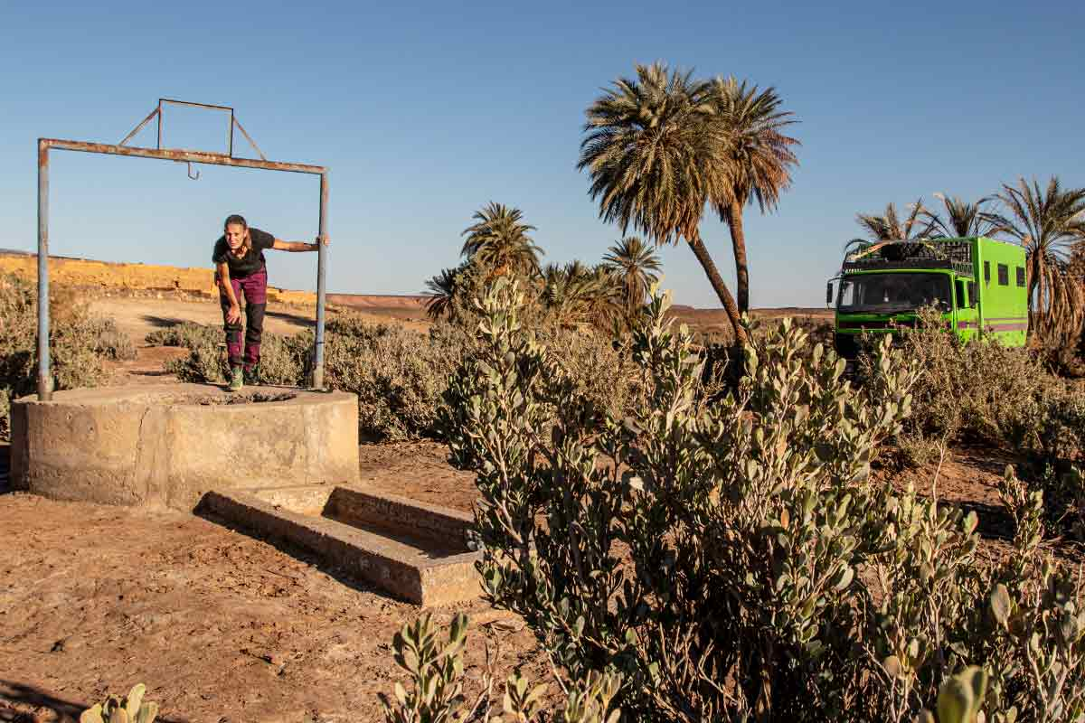 Brunnen in Marokko zum Wasserfüllen am Wohnmobil