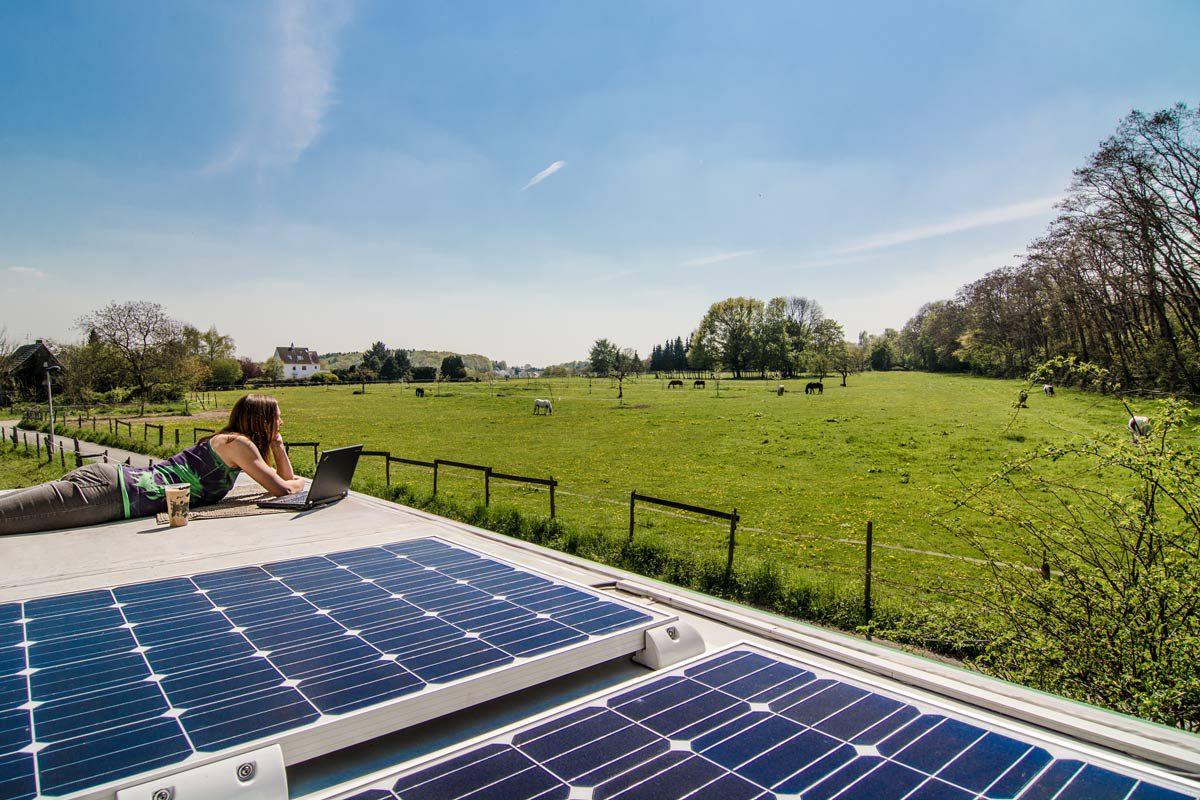 Solarpanele für unseren Strom im Wohnmobil