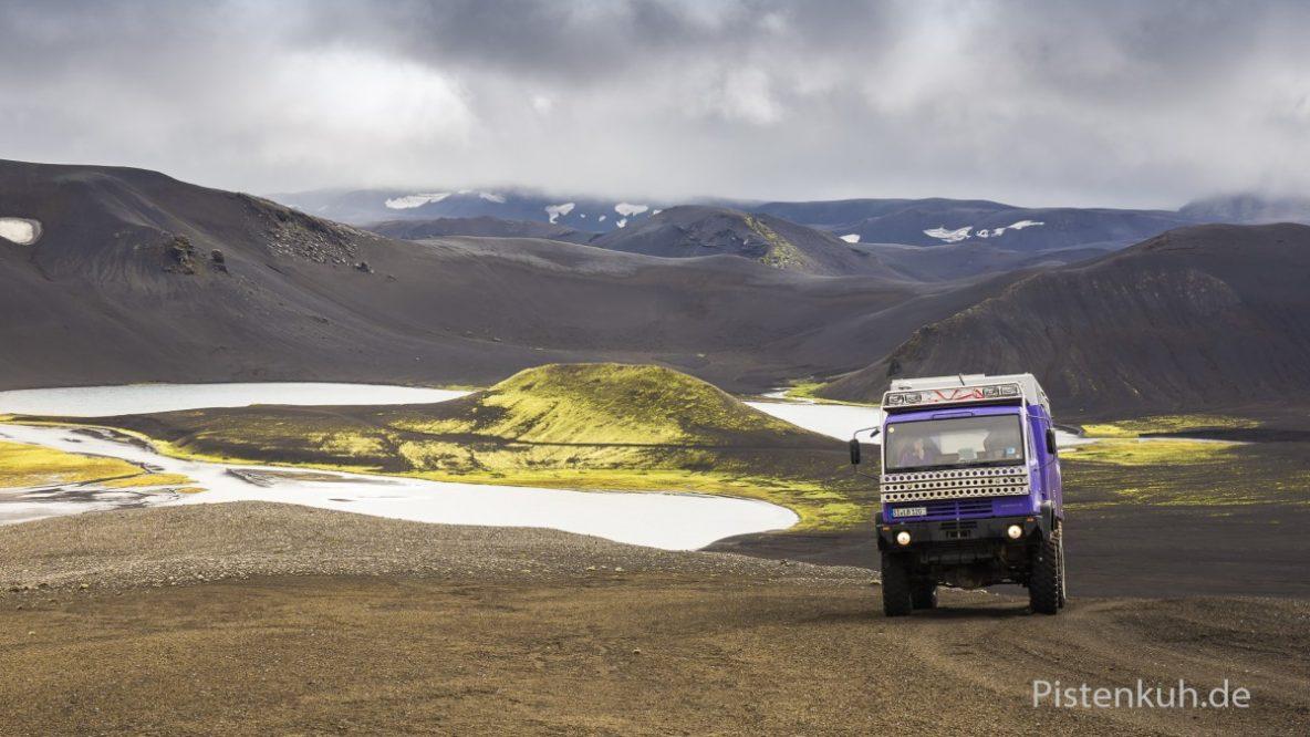Steyr 12m18 Expeditionsmobil auf Island