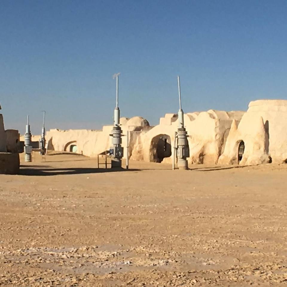 Star Wars Kulissen Mos Espa, Nefta, Tunesien
