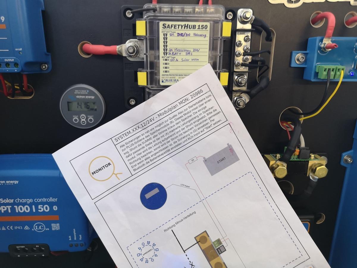 Strommodule mit Anleitung zum Wohnmobil Selbstausbau von Tigerexped