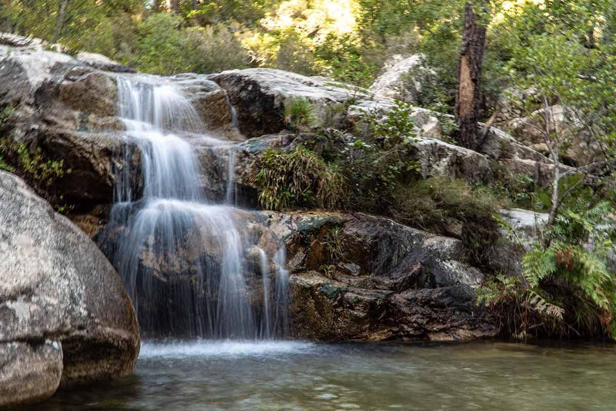 Wasserfall Purcaraccia Schlucht
